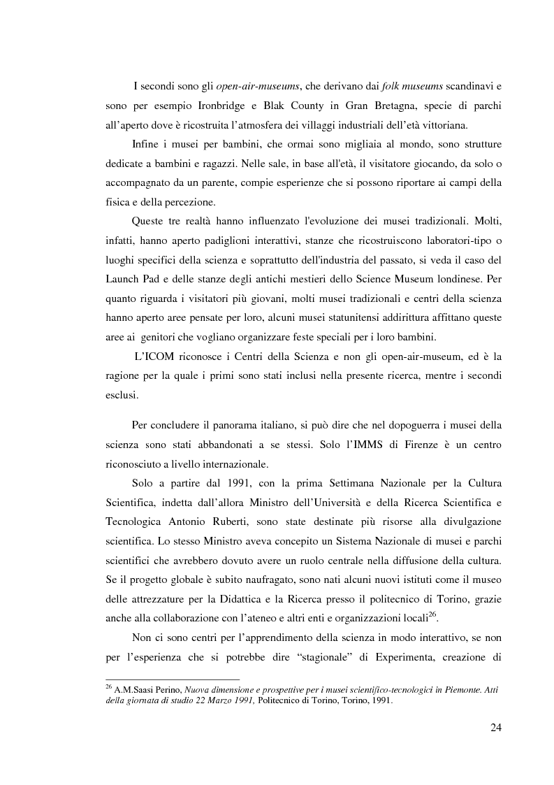 Anteprima della tesi: I musei della scienza e l'ambiente Internet, Pagina 13