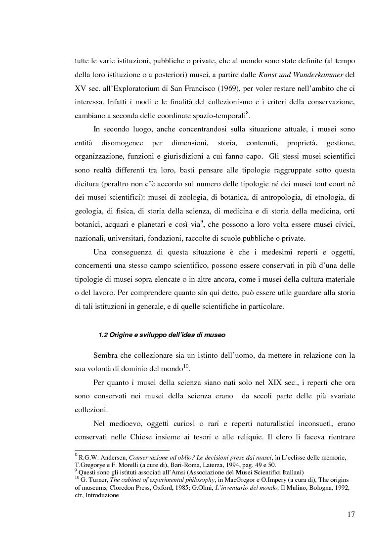 Anteprima della tesi: I musei della scienza e l'ambiente Internet, Pagina 6