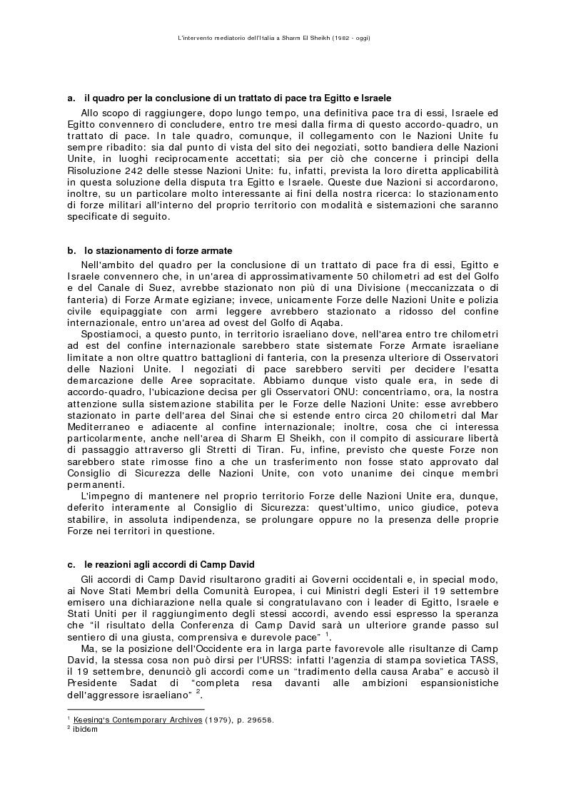 Anteprima della tesi: L'intervento mediatorio dell'Italia a Sharm El Sheikh (1982-oggi), Pagina 2