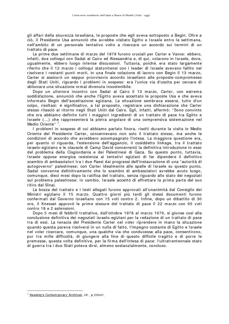Anteprima della tesi: L'intervento mediatorio dell'Italia a Sharm El Sheikh (1982-oggi), Pagina 6