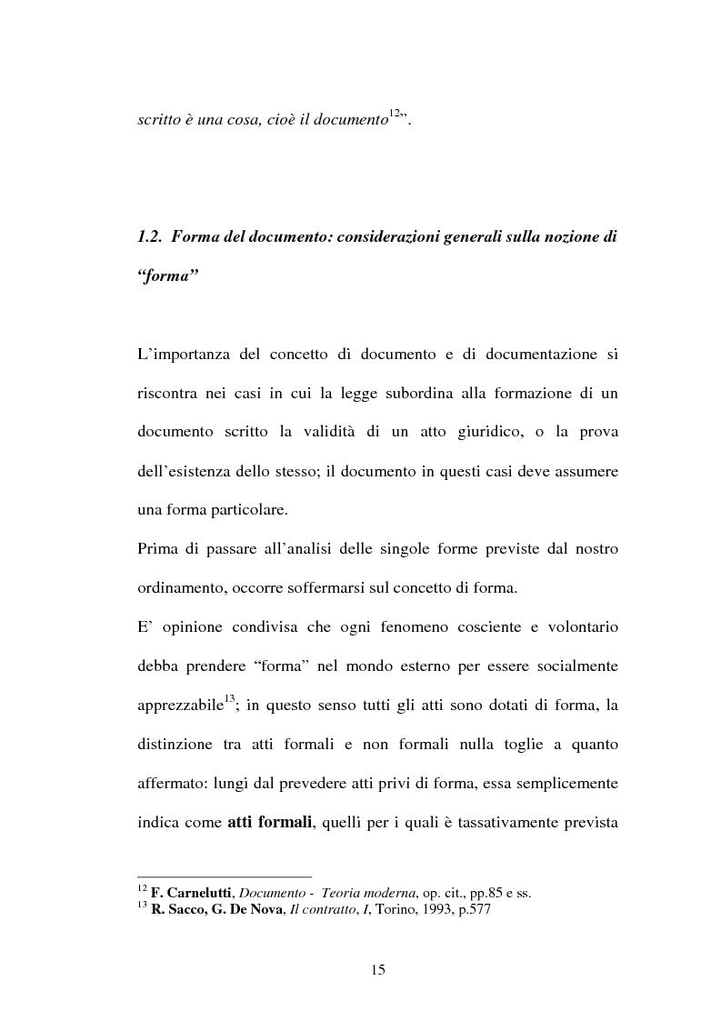 Anteprima della tesi: Dal documento cartaceo al documento informatico, Pagina 13