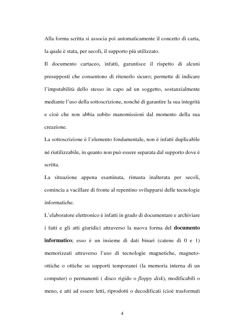 Anteprima della tesi: Dal documento cartaceo al documento informatico, Pagina 2