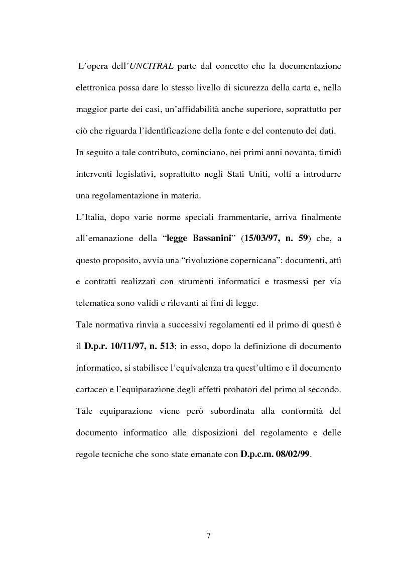 Anteprima della tesi: Dal documento cartaceo al documento informatico, Pagina 5