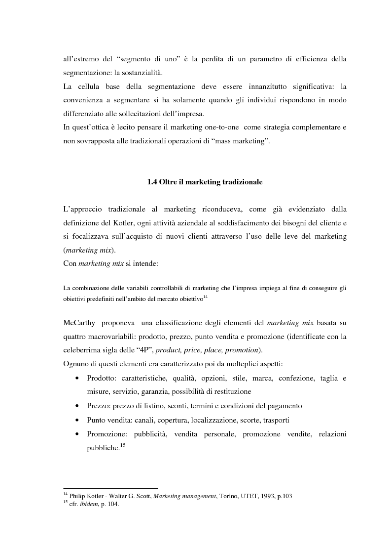 Anteprima della tesi: Il CRM, rapporti con il marketing, evoluzione nel web e modelli per un approccio normativo. Il caso The Health Hub, Pagina 13