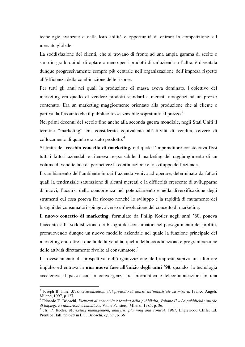 Anteprima della tesi: Il CRM, rapporti con il marketing, evoluzione nel web e modelli per un approccio normativo. Il caso The Health Hub, Pagina 7