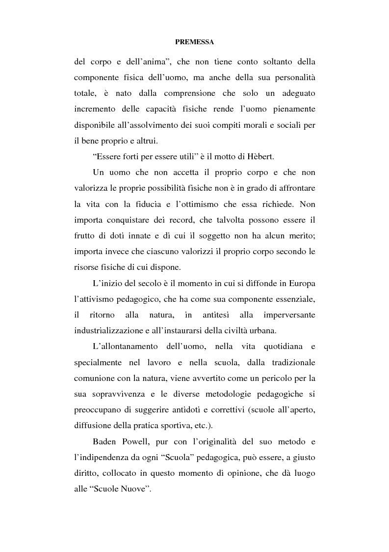 Anteprima della tesi: Educazione al movimento in ambiente naturale, Pagina 4