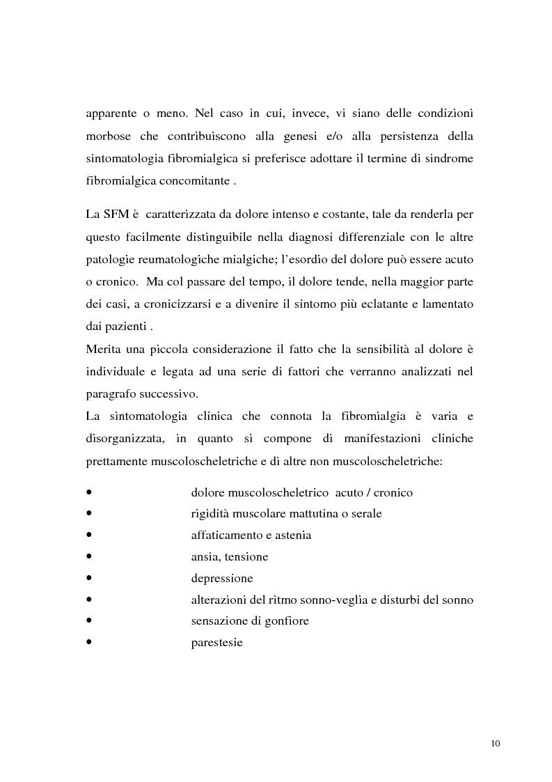 Anteprima della tesi: La sindrome fibromialgica come sindrome reattiva da disadattamento agli stressors ambientali, Pagina 7