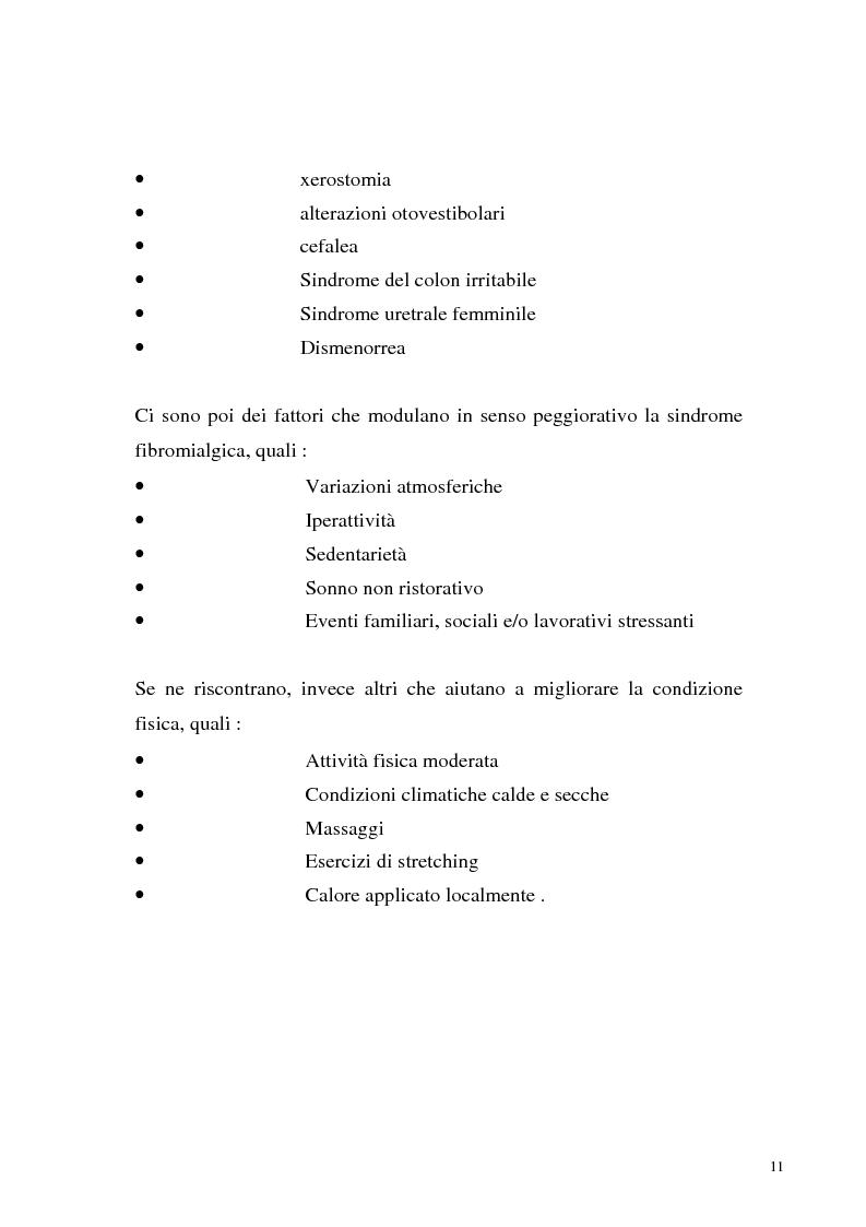 Anteprima della tesi: La sindrome fibromialgica come sindrome reattiva da disadattamento agli stressors ambientali, Pagina 8