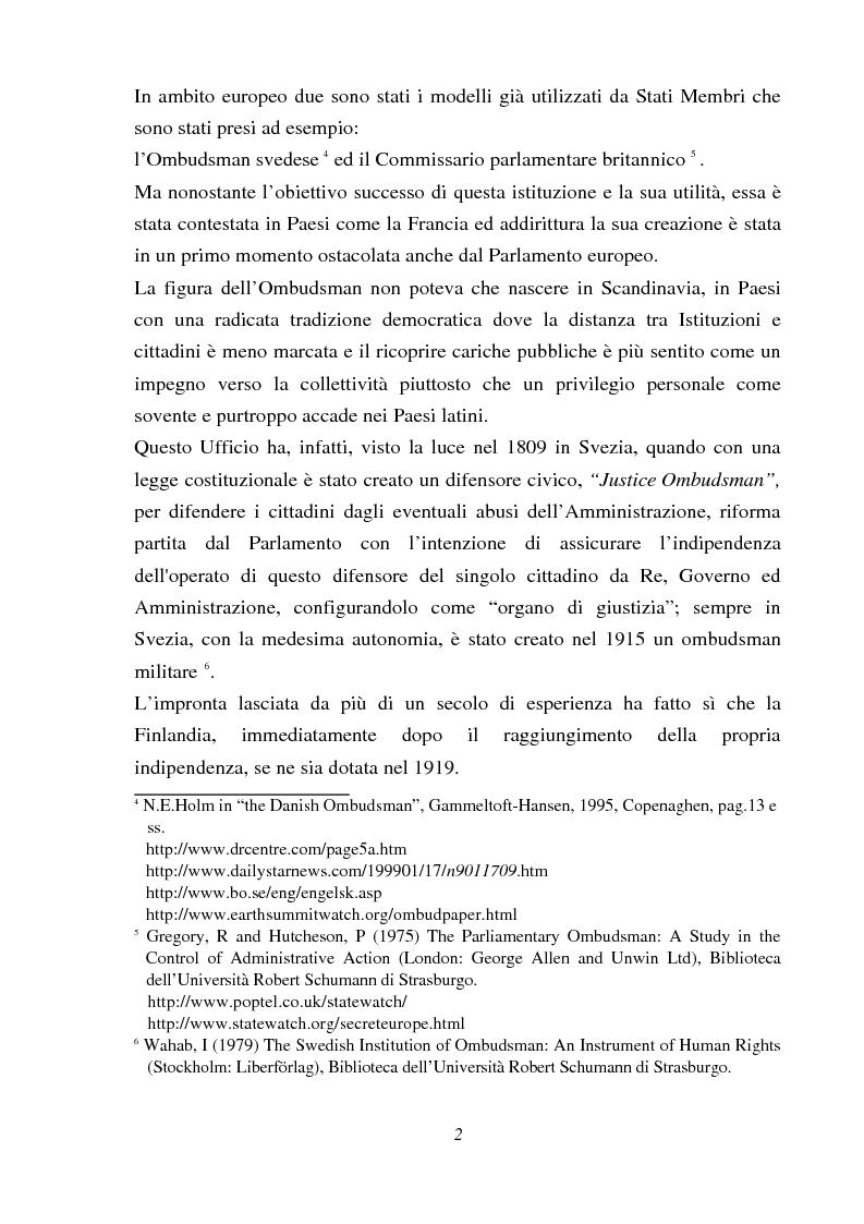 Anteprima della tesi: Il Mediatore europeo, Pagina 2
