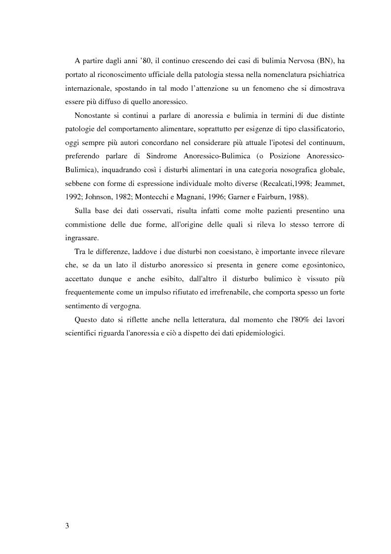 Anteprima della tesi: Valutazione di personalità e temperamento nei disturbi del comportamento alimentare, Pagina 2
