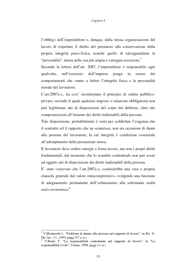 Anteprima della tesi: Rapporto di lavoro e lesione della dignità umana, Pagina 15