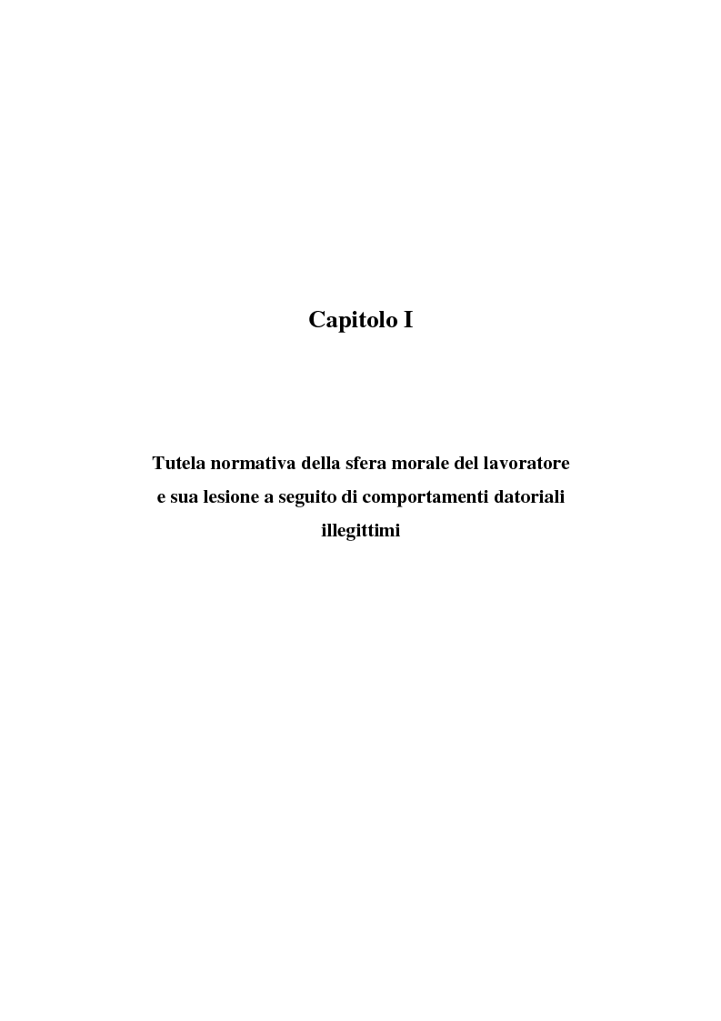 Anteprima della tesi: Rapporto di lavoro e lesione della dignità umana, Pagina 6