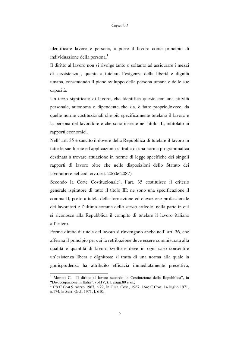 Anteprima della tesi: Rapporto di lavoro e lesione della dignità umana, Pagina 9