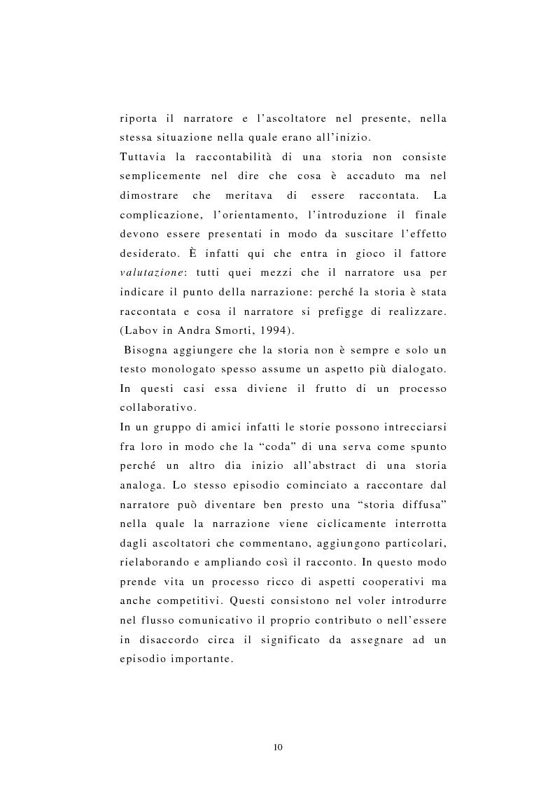 Anteprima della tesi: Incredibile ma.... narrazione con materiale biografico di storie ''particolari'' di vita quotidiana, Pagina 10