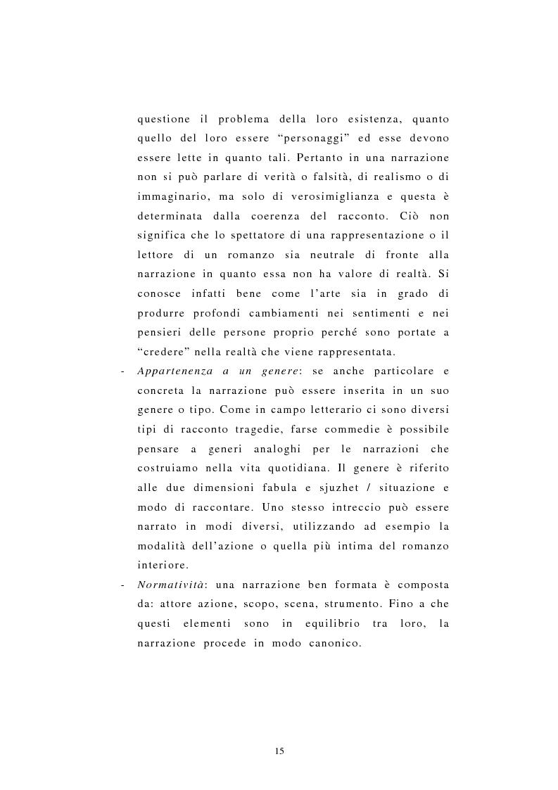 Anteprima della tesi: Incredibile ma.... narrazione con materiale biografico di storie ''particolari'' di vita quotidiana, Pagina 15