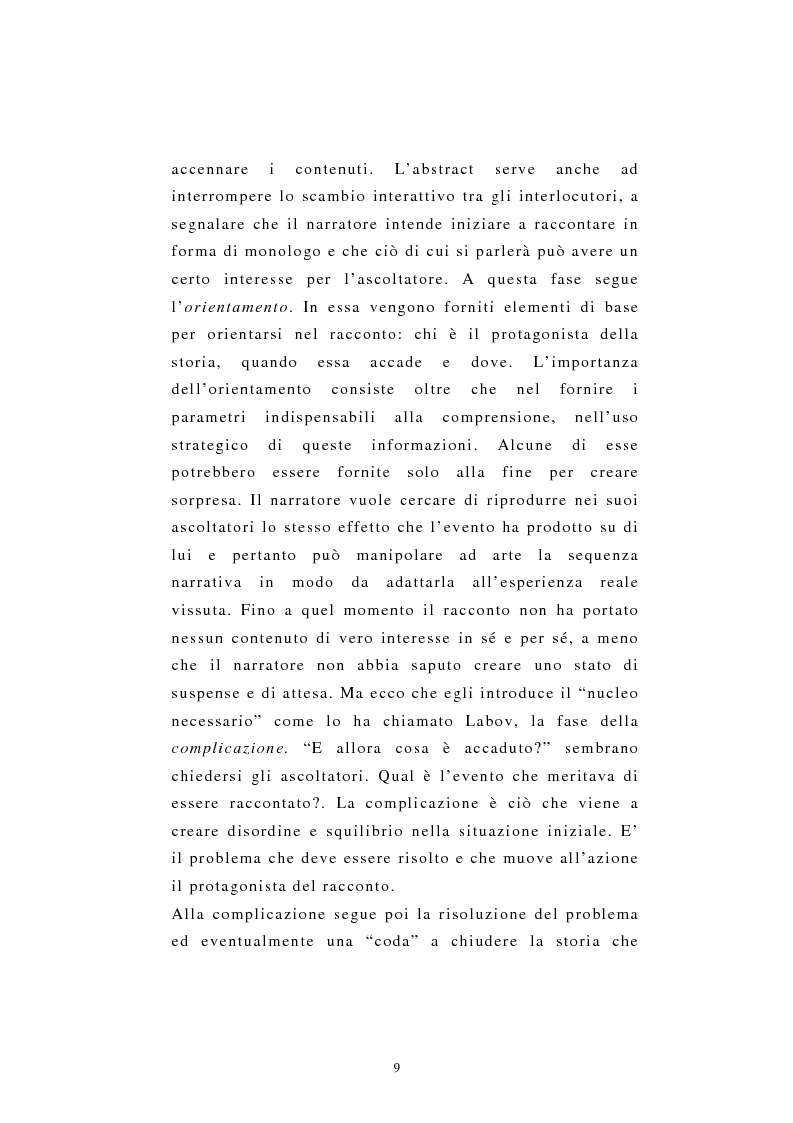 Anteprima della tesi: Incredibile ma.... narrazione con materiale biografico di storie ''particolari'' di vita quotidiana, Pagina 9