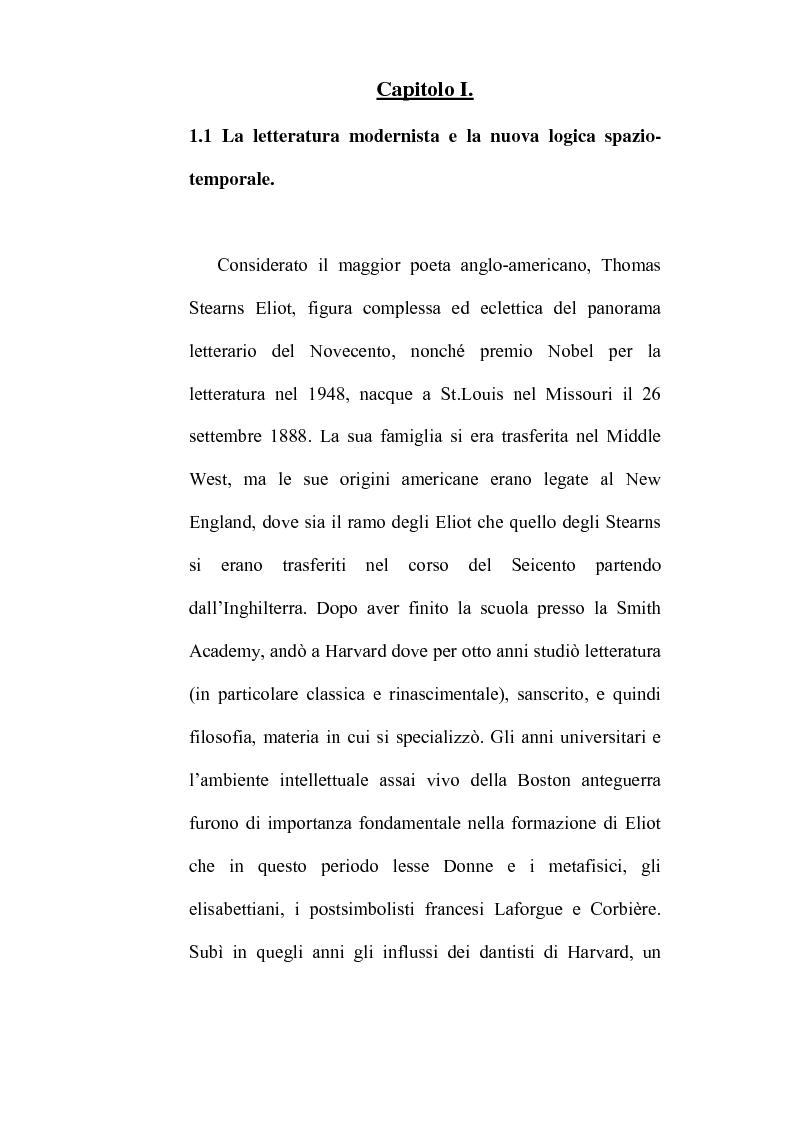 Anteprima della tesi: Percorsi ipertestuali in ''The Waste Land'': la ''forma spaziale'' nella poesia, Pagina 6