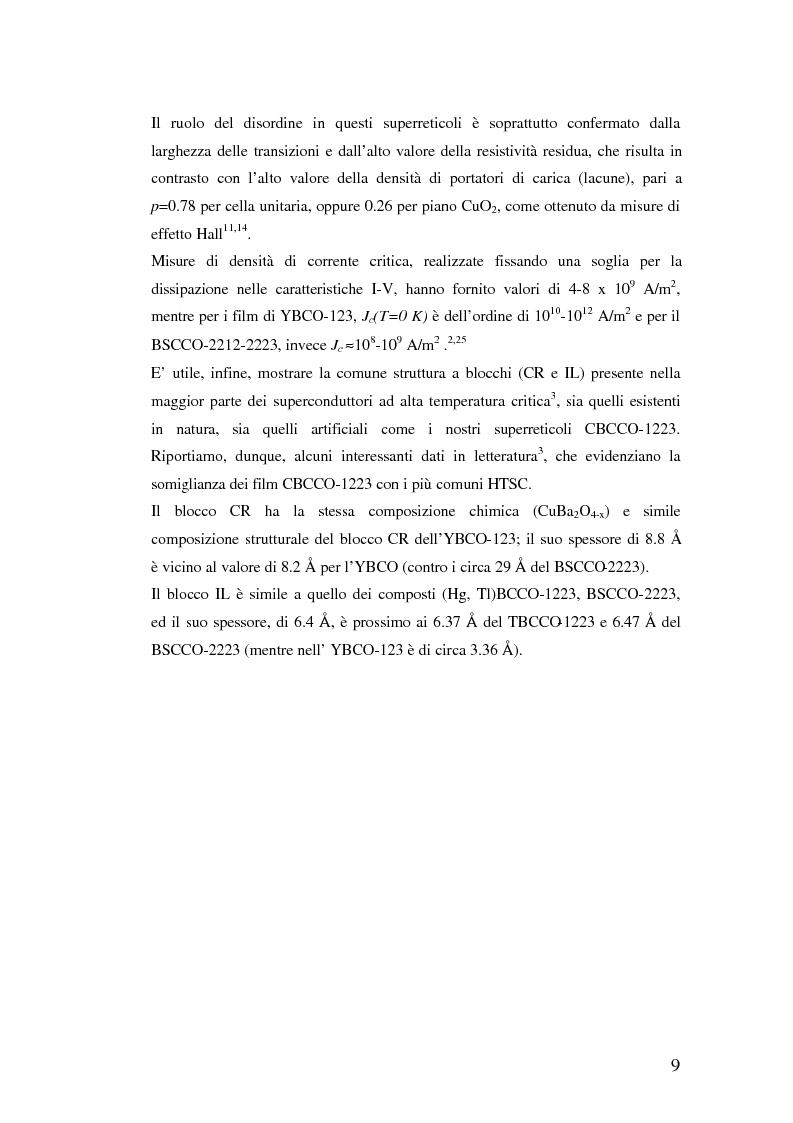 Anteprima della tesi: Misure di trasporto in superreticoli superconduttori BaCuO2/CaCuO2 cresciuti mediante fotodeposizione laser, Pagina 12