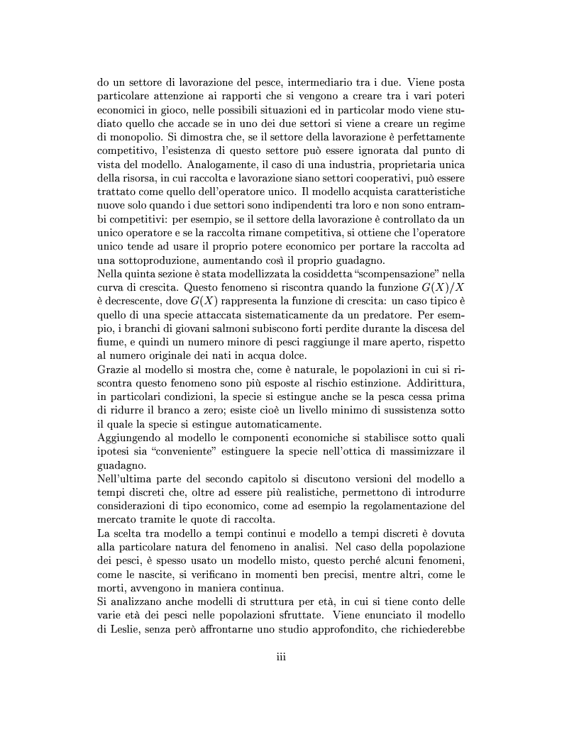 Anteprima della tesi: Modelli matematici per la pesca industriale, Pagina 3