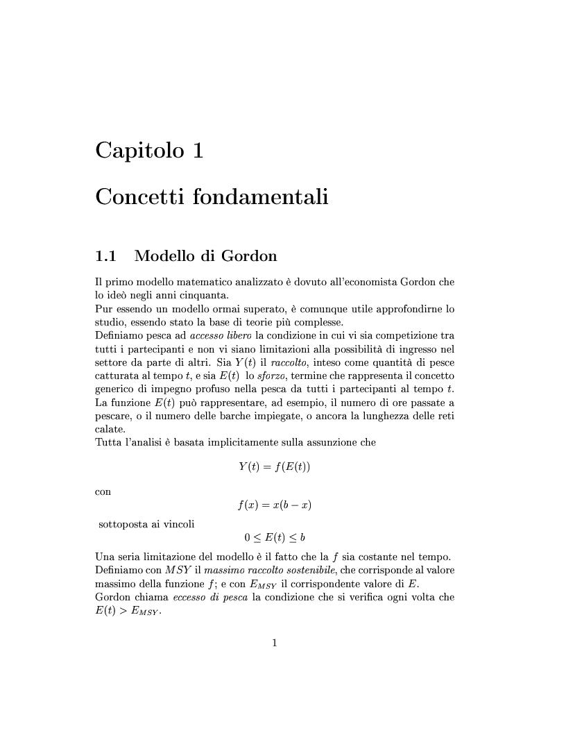 Anteprima della tesi: Modelli matematici per la pesca industriale, Pagina 5