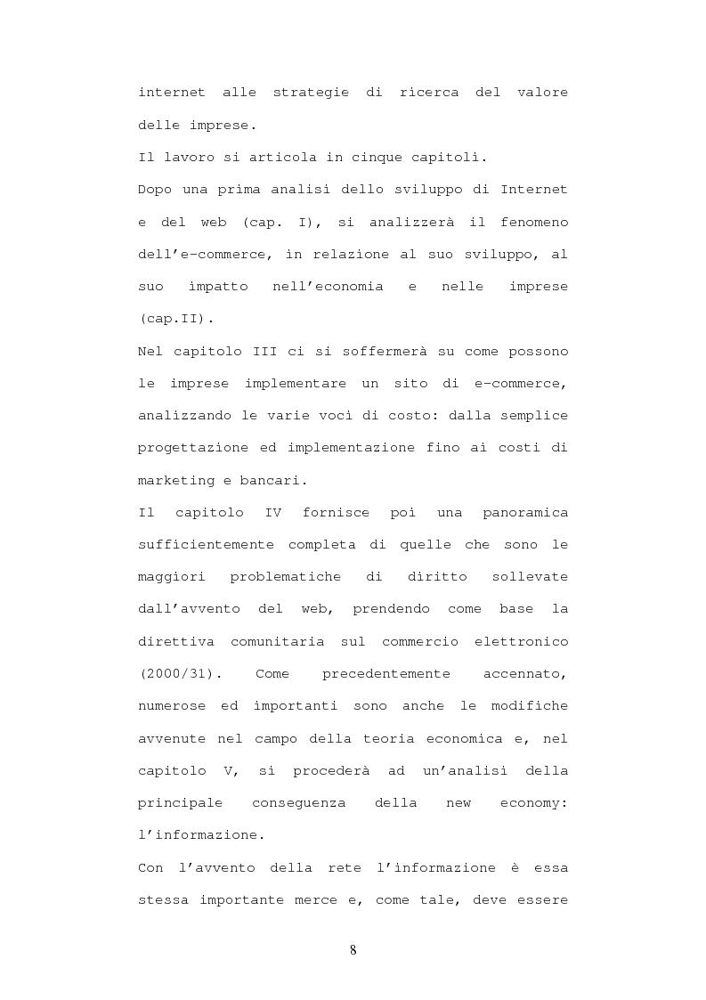 Anteprima della tesi: Economia e diritto dell'e-commerce, Pagina 3