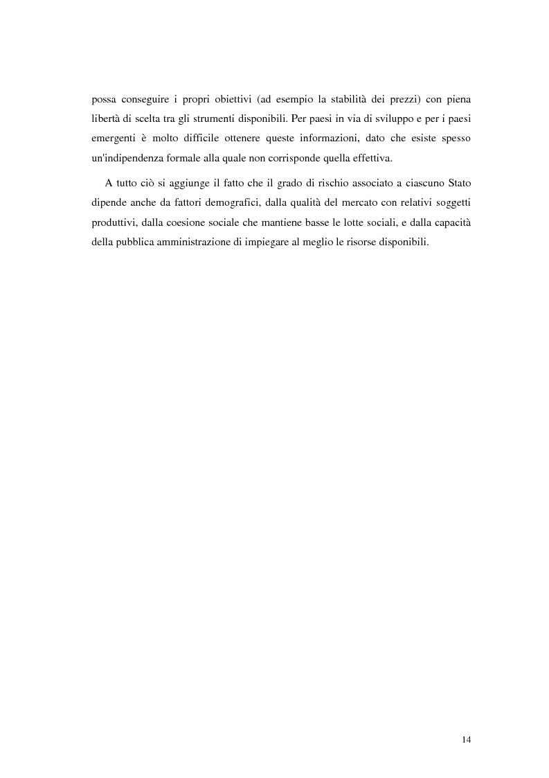 Anteprima della tesi: L'analisi del rischio paese. Una applicazione delle reti neurali., Pagina 11