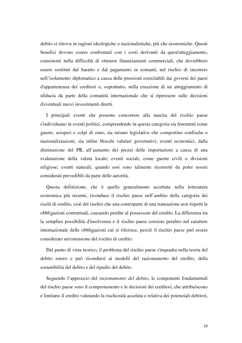 Anteprima della tesi: L'analisi del rischio paese. Una applicazione delle reti neurali., Pagina 7
