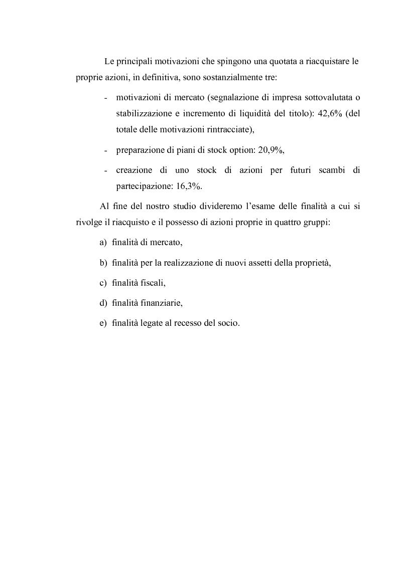 Anteprima della tesi: Acquisto e possesso di azioni proprie e della controllante: motivazioni e riflessi sul bilancio d'esercizio e consolidato, Pagina 13