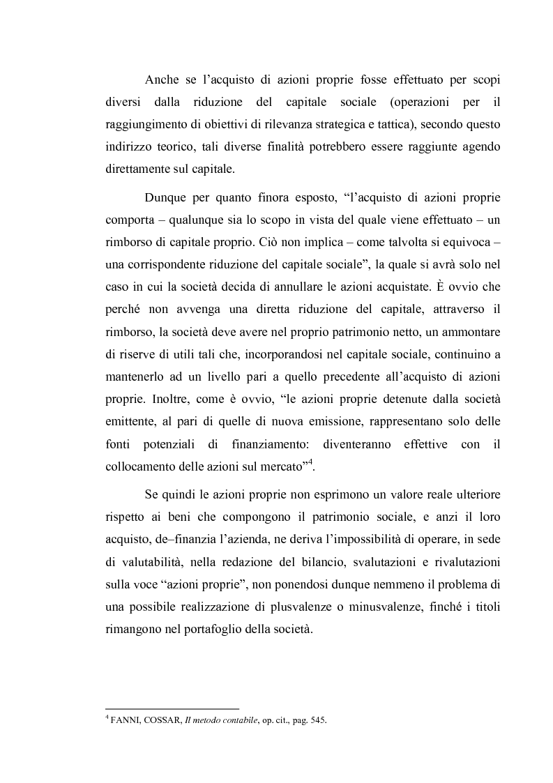 Anteprima della tesi: Acquisto e possesso di azioni proprie e della controllante: motivazioni e riflessi sul bilancio d'esercizio e consolidato, Pagina 3