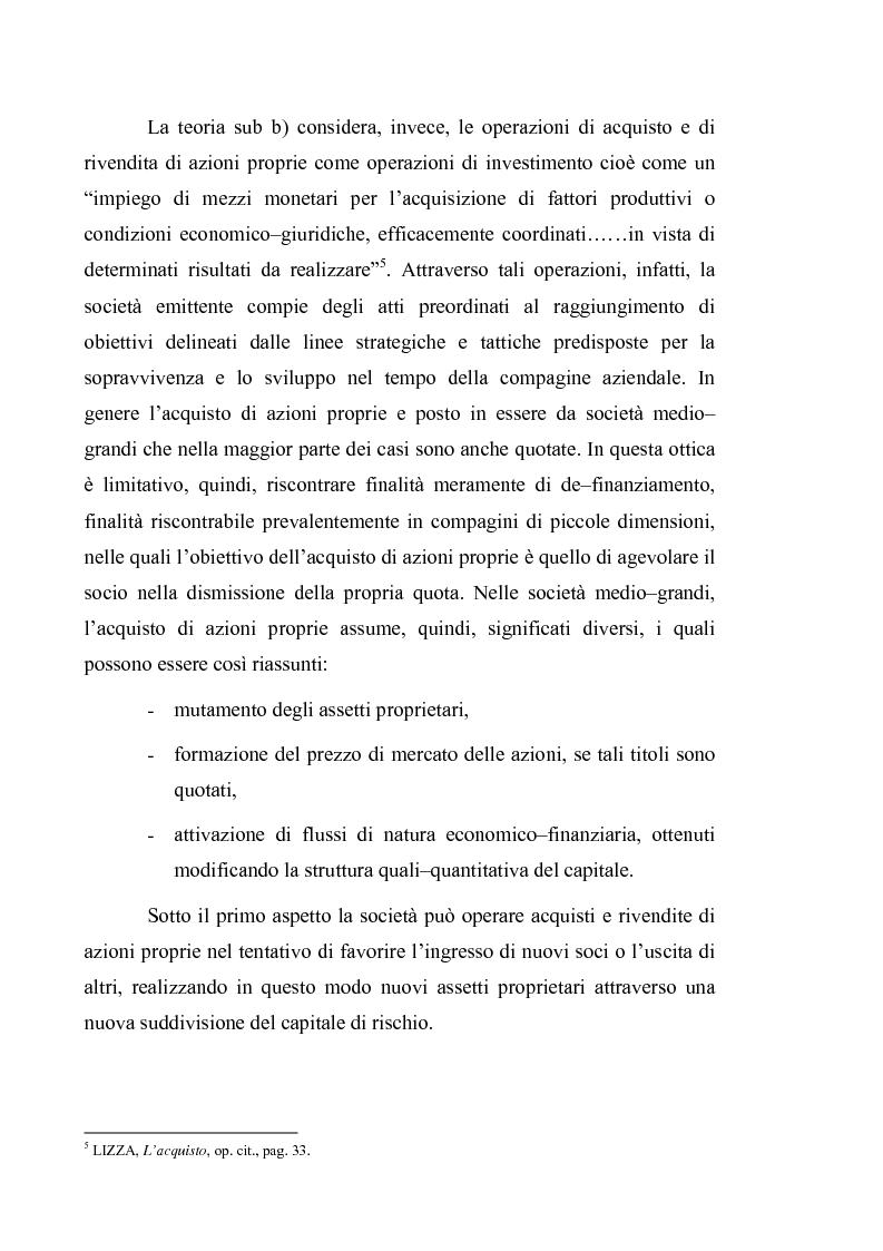 Anteprima della tesi: Acquisto e possesso di azioni proprie e della controllante: motivazioni e riflessi sul bilancio d'esercizio e consolidato, Pagina 4