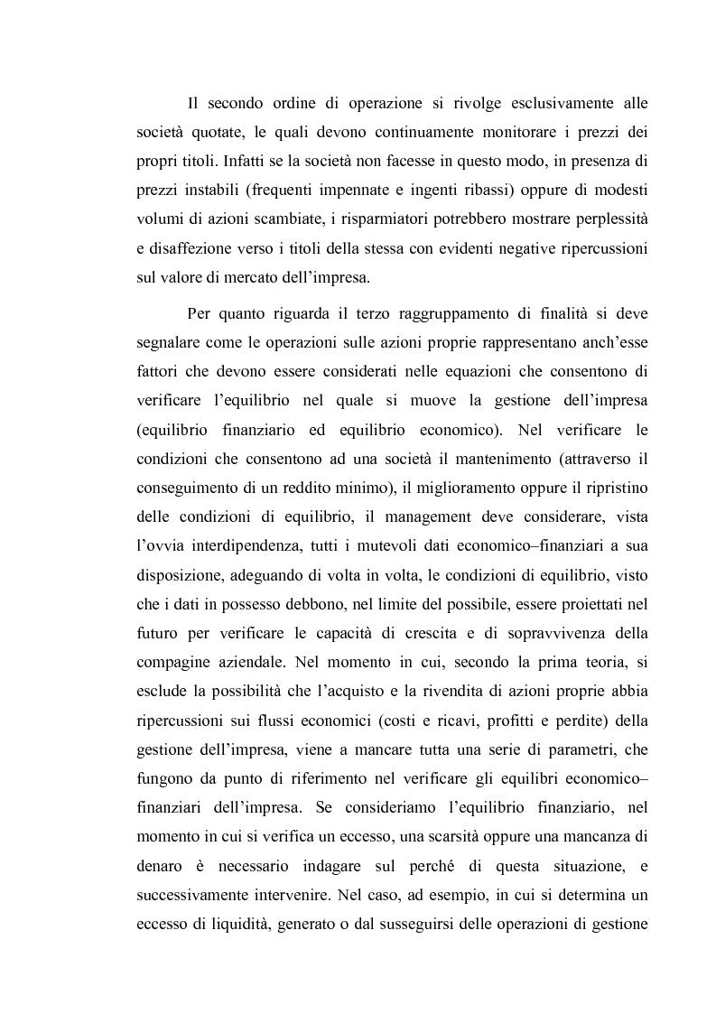 Anteprima della tesi: Acquisto e possesso di azioni proprie e della controllante: motivazioni e riflessi sul bilancio d'esercizio e consolidato, Pagina 5