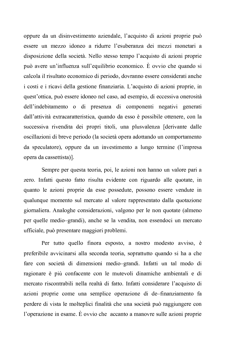 Anteprima della tesi: Acquisto e possesso di azioni proprie e della controllante: motivazioni e riflessi sul bilancio d'esercizio e consolidato, Pagina 6