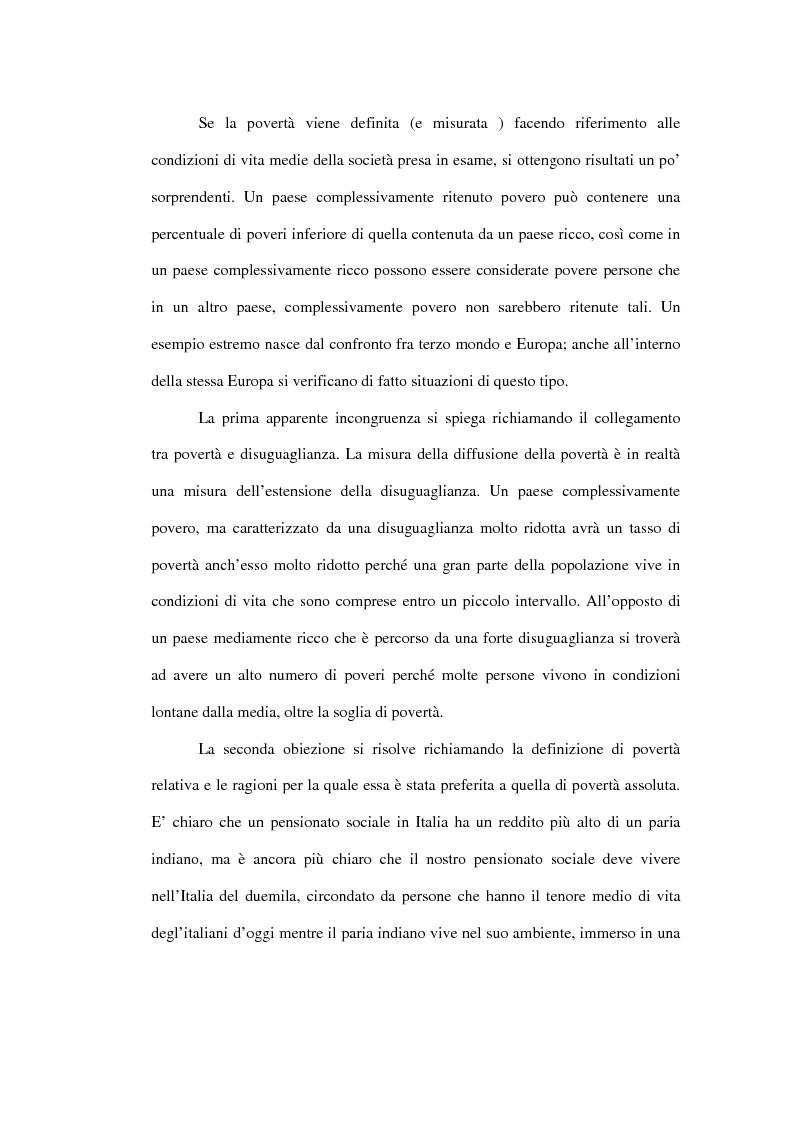Anteprima della tesi: Povertà: aspetti definitori, misure e principali indagini con particolare riferimento al contesto italiano, Pagina 13