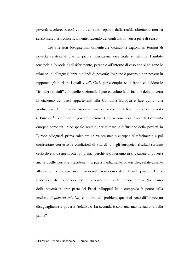Anteprima della tesi: Povertà: aspetti definitori, misure e principali indagini con particolare riferimento al contesto italiano, Pagina 14