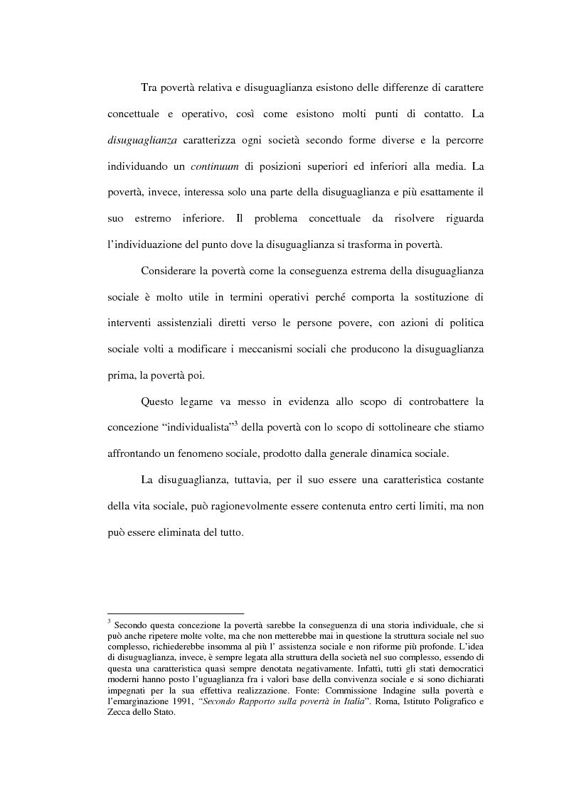 Anteprima della tesi: Povertà: aspetti definitori, misure e principali indagini con particolare riferimento al contesto italiano, Pagina 15