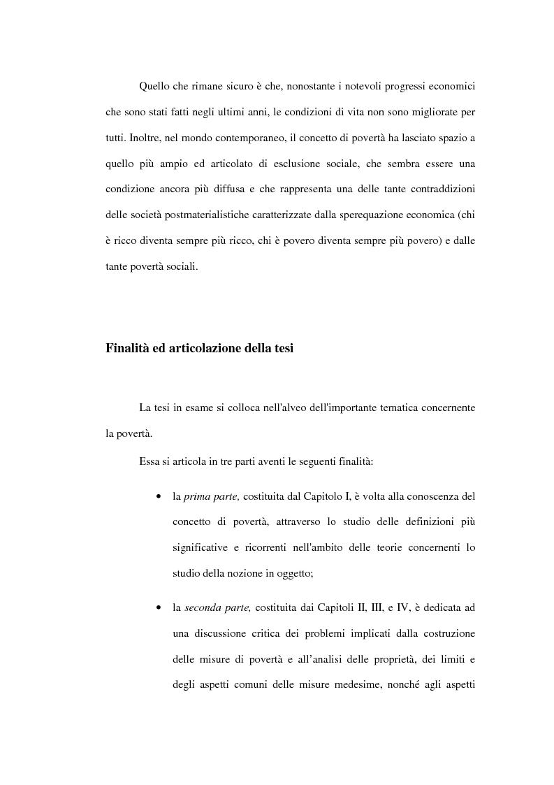 Anteprima della tesi: Povertà: aspetti definitori, misure e principali indagini con particolare riferimento al contesto italiano, Pagina 2