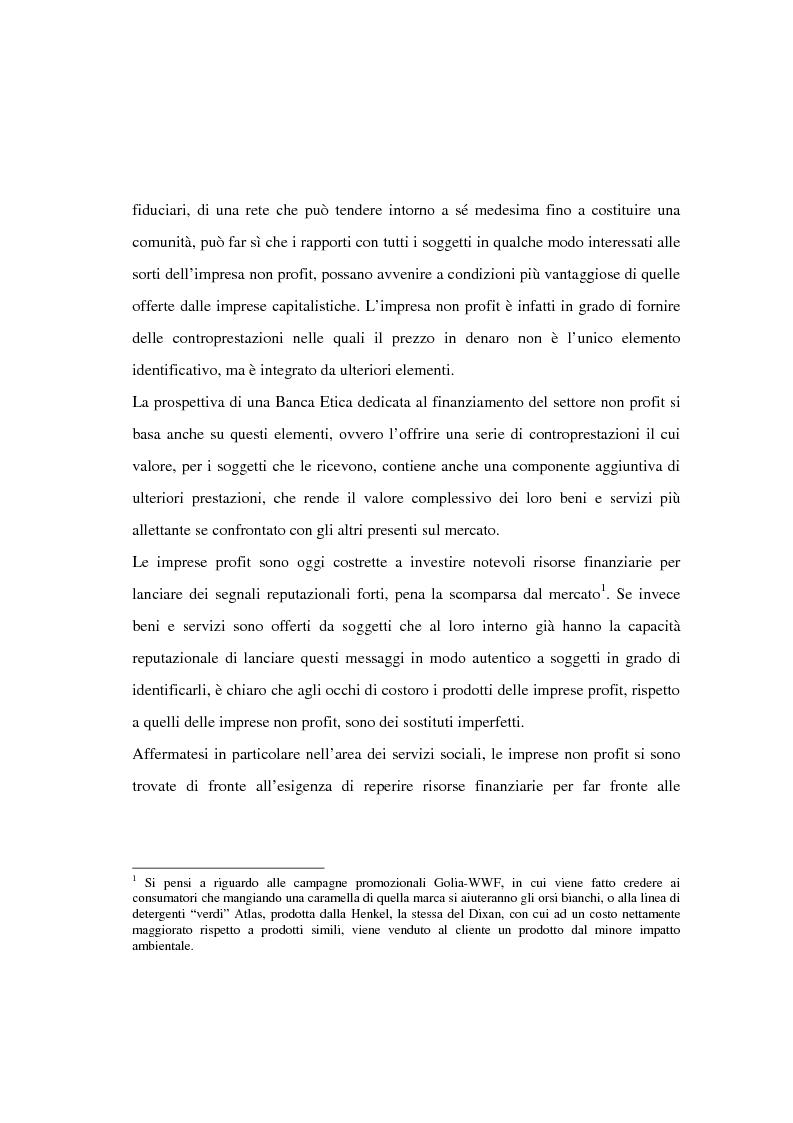 Anteprima della tesi: Il finanziamento del settore non profit: la prospettiva della banca etica, Pagina 2