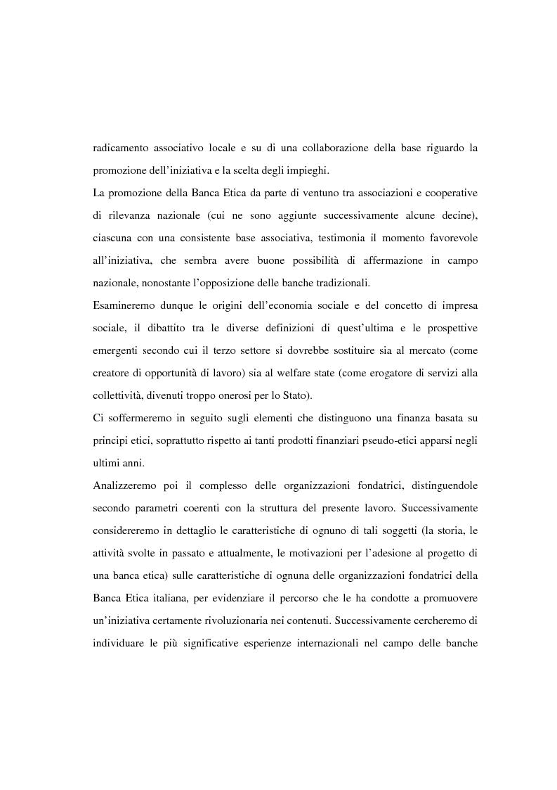 Anteprima della tesi: Il finanziamento del settore non profit: la prospettiva della banca etica, Pagina 4