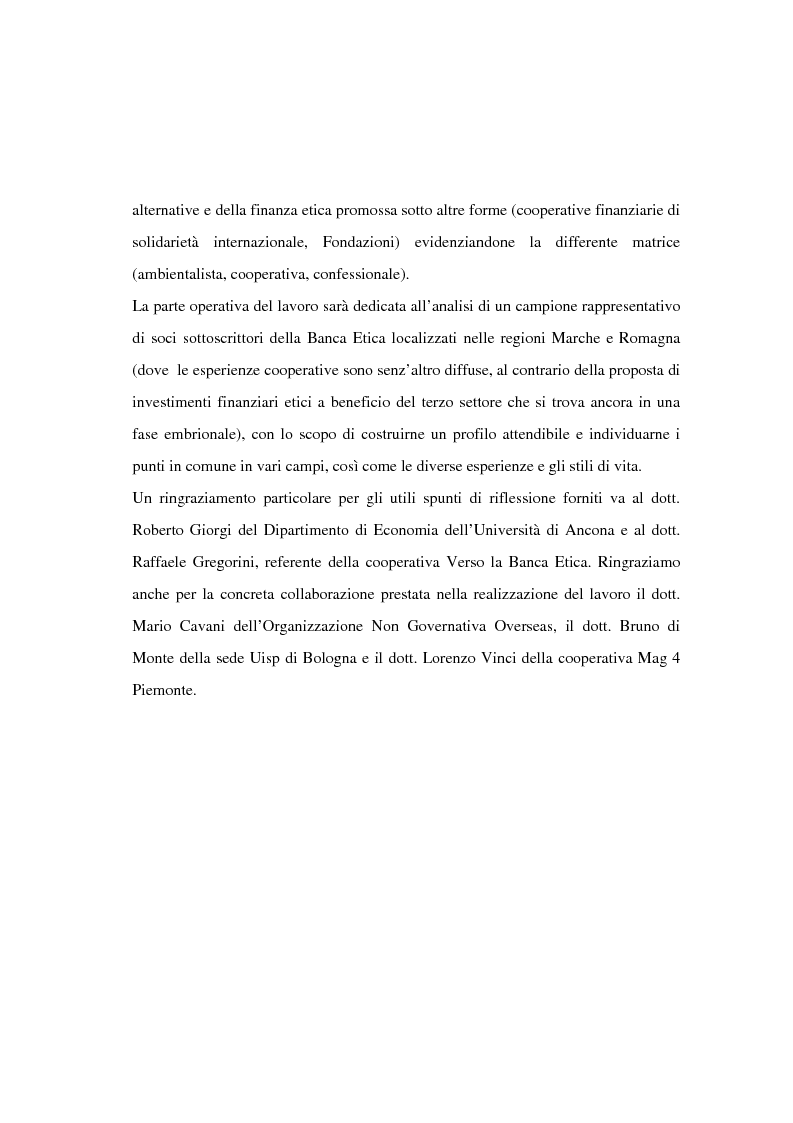 Anteprima della tesi: Il finanziamento del settore non profit: la prospettiva della banca etica, Pagina 5