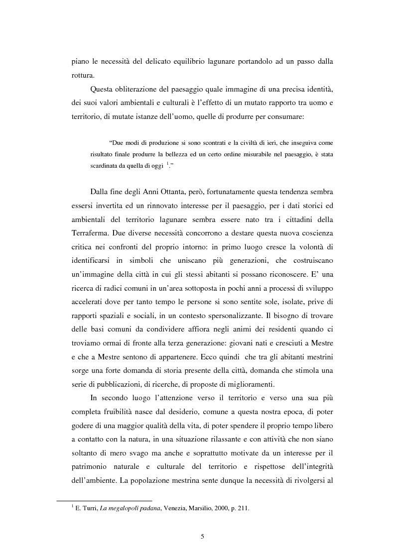 Anteprima della tesi: L'altra Venezia: il Parco di San Giuliano e il rinnovo territoriale, Pagina 3