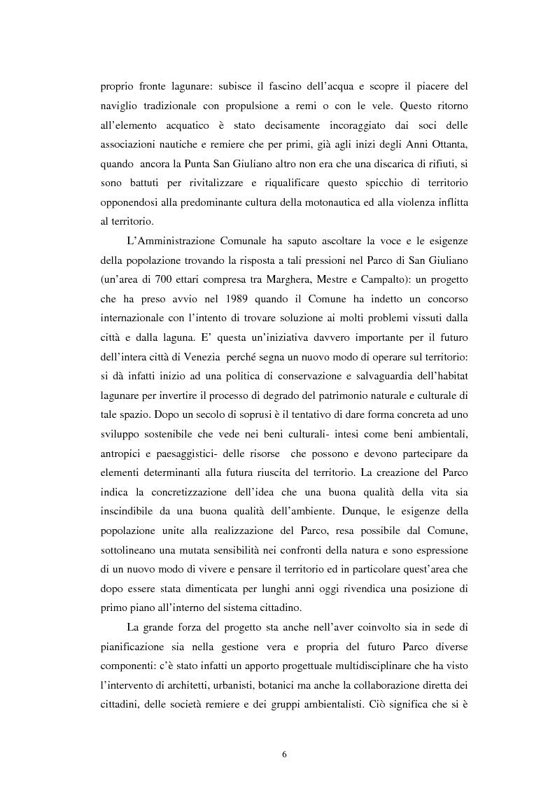 Anteprima della tesi: L'altra Venezia: il Parco di San Giuliano e il rinnovo territoriale, Pagina 4