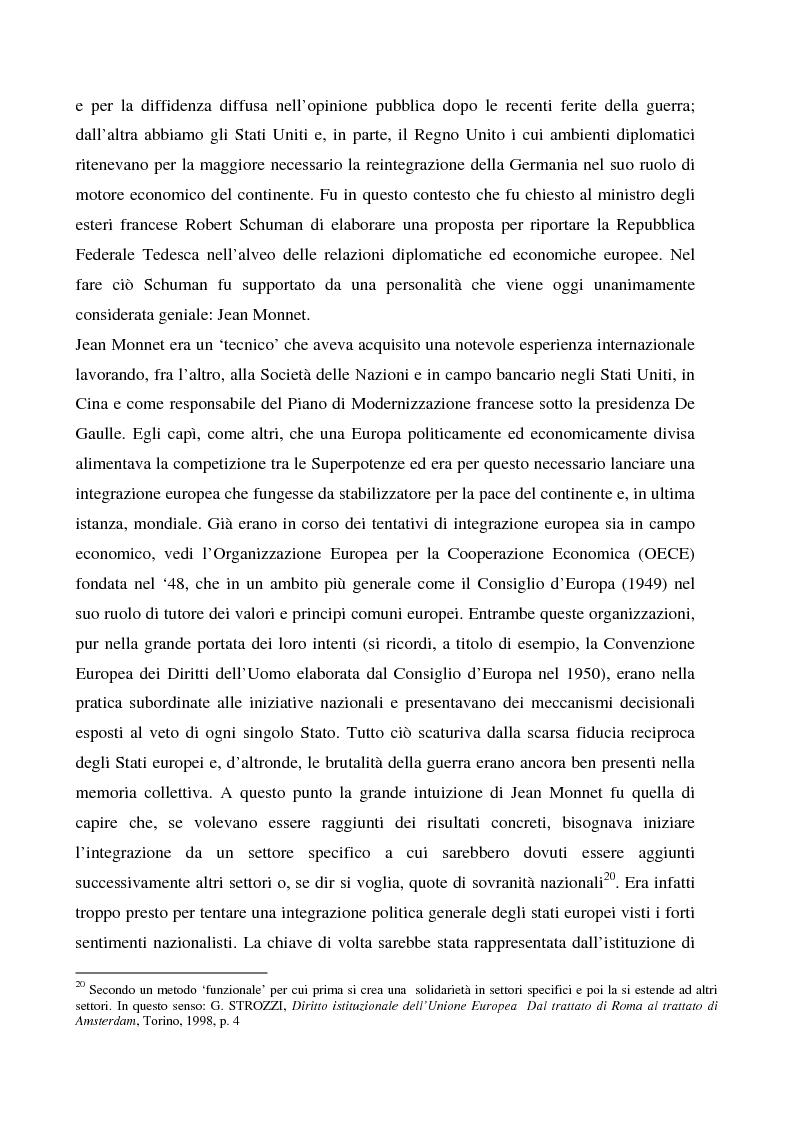 Anteprima della tesi: Sicurezza 'interna ed esterna' nello sviluppo dell'Unione Politica Europea, Pagina 10