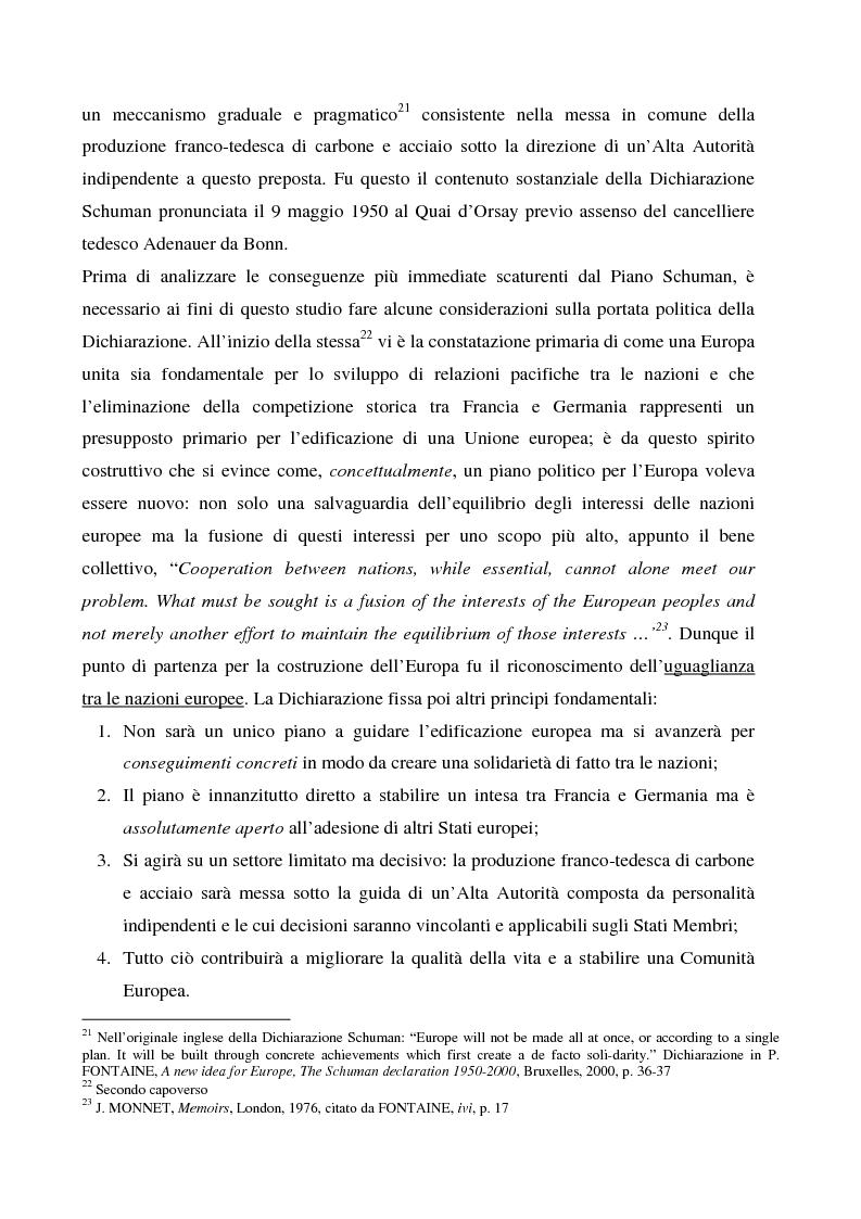Anteprima della tesi: Sicurezza 'interna ed esterna' nello sviluppo dell'Unione Politica Europea, Pagina 11