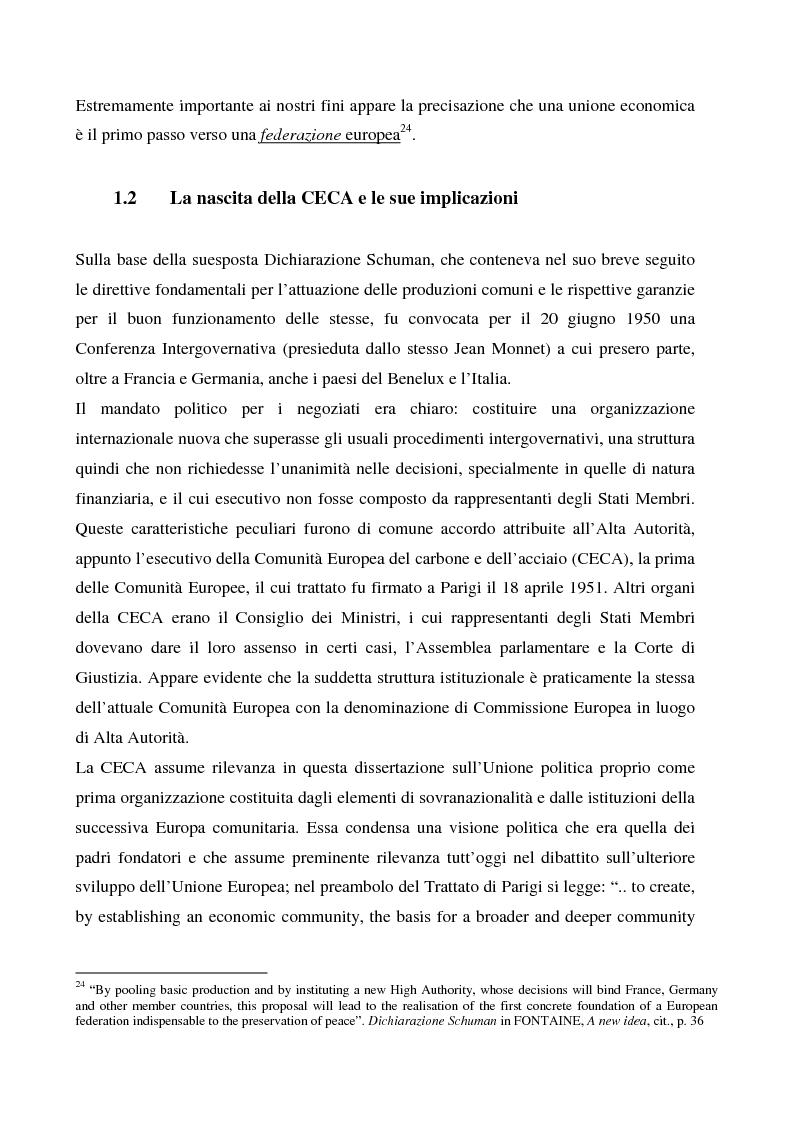 Anteprima della tesi: Sicurezza 'interna ed esterna' nello sviluppo dell'Unione Politica Europea, Pagina 12