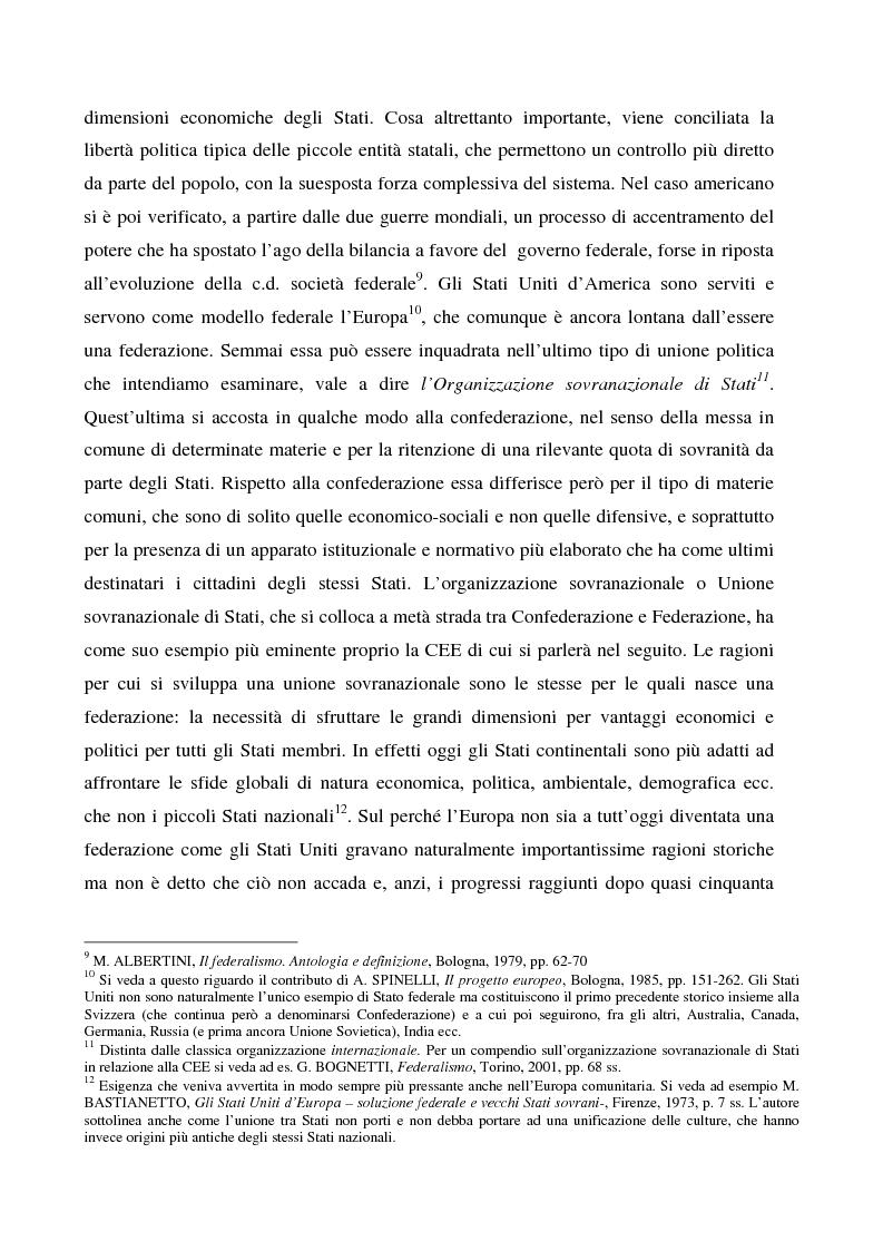 Anteprima della tesi: Sicurezza 'interna ed esterna' nello sviluppo dell'Unione Politica Europea, Pagina 7