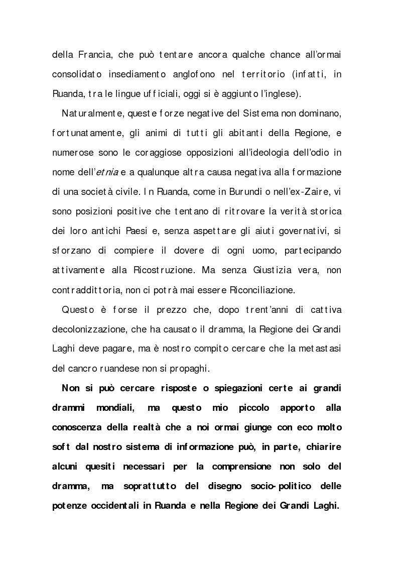 Anteprima della tesi: Rwanda (Paese dalle mille Colline). I ricorsi di una ''distrazione'', Pagina 4