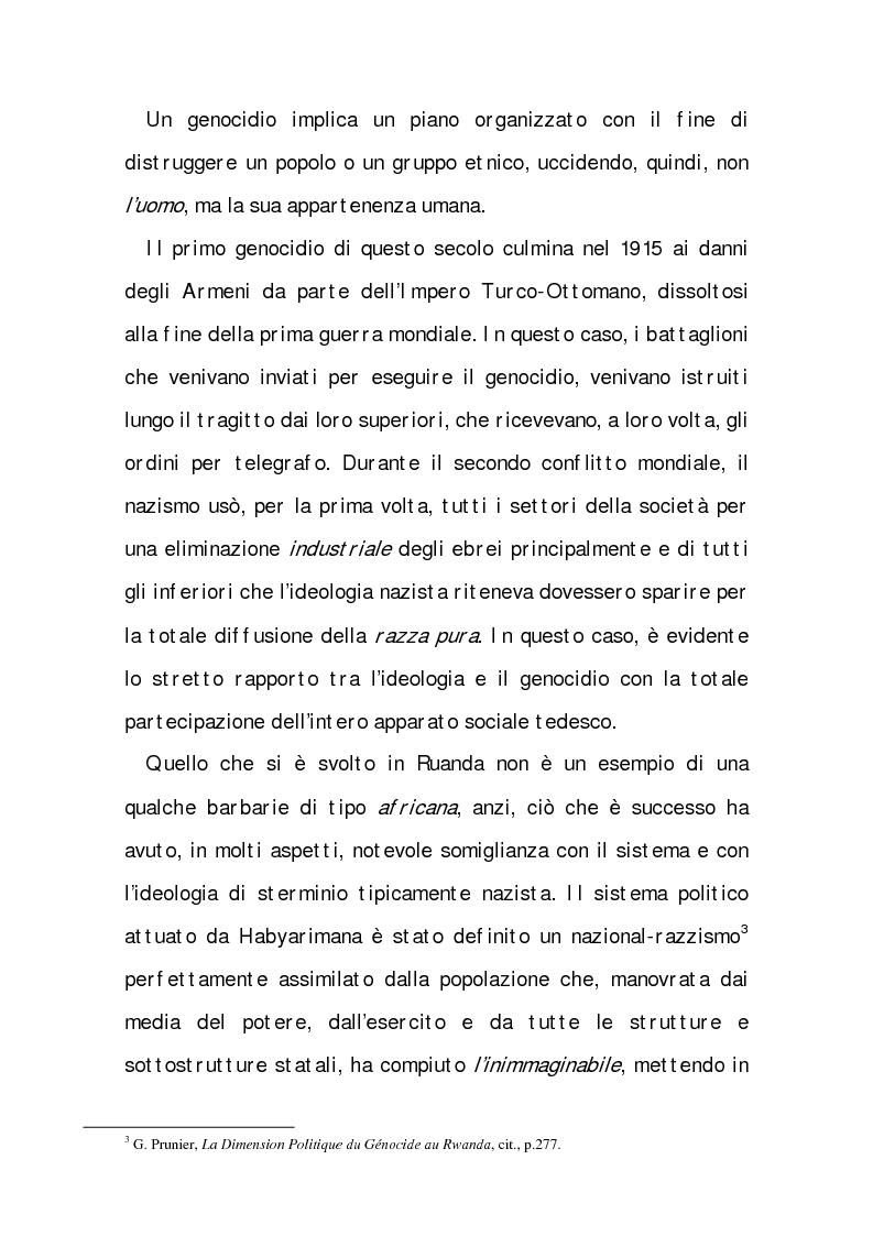 Anteprima della tesi: Rwanda (Paese dalle mille Colline). I ricorsi di una ''distrazione'', Pagina 7