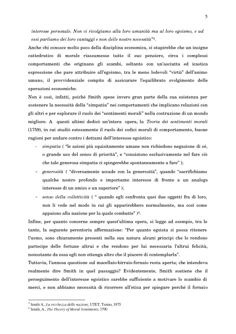 Anteprima della tesi: Economia, etica e finanza - Riflessioni su una conciliazione all'alba del III millennio, Pagina 10