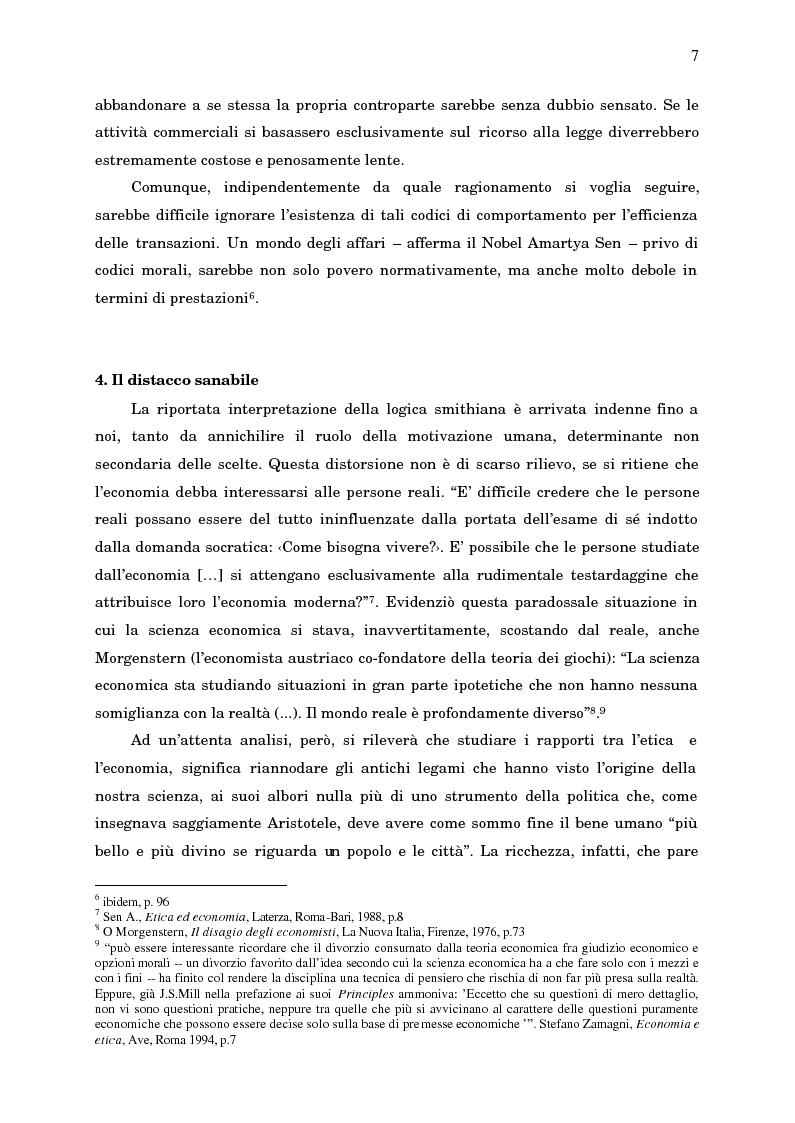 Anteprima della tesi: Economia, etica e finanza - Riflessioni su una conciliazione all'alba del III millennio, Pagina 12