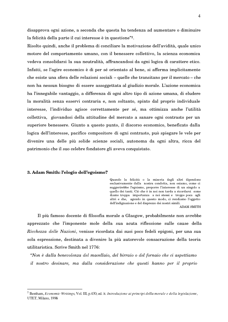 Anteprima della tesi: Economia, etica e finanza - Riflessioni su una conciliazione all'alba del III millennio, Pagina 9